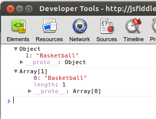 Javascript arrays vs objects
