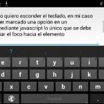 Esconder el teclado en una aplicación web para moviles