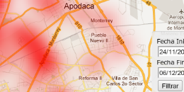 HQ Maps - Heatmaps sobre Google maps